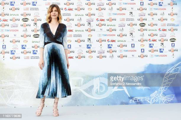 Actress Vittoria Puccini attends Giffoni Film Festival 2019 on July 23 2019 in Giffoni Valle Piana Italy