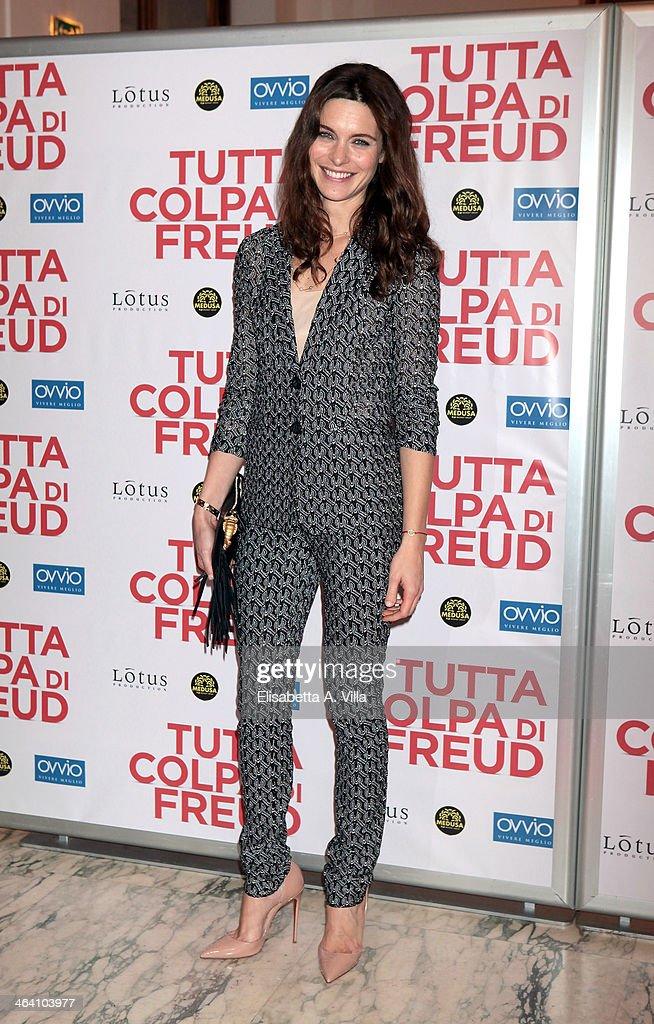 Actress Vittoria Puccini attends 'Tutta colpa di Freud' premiere at Teatro dell'Opera on January 20, 2014 in Rome, Italy.