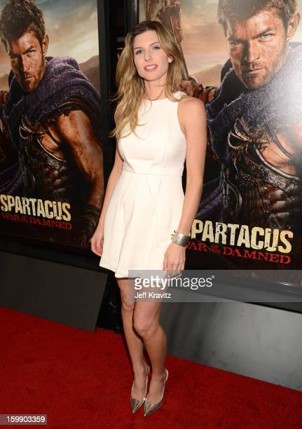 Actress Viva Bianca attends the Spartacus War Of The Damned premiere at Regal Cinemas LA LIVE Stadium 14 on January 22 2013 in Los Angeles California