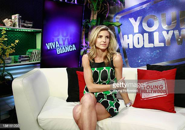 Actress Viva Bianca visits Young Hollywood Studio on February 2 2012 in Los Angeles California