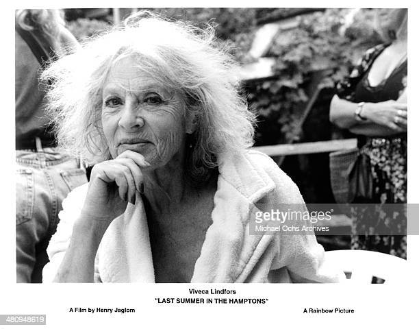 Actress Viveca Lindfors in a scene from the movie 'Last Summer in the Hamptons' circa 1995