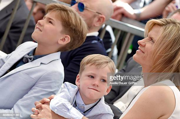 Actress Viveca Paulin with sons Axel Ferrell and Mattias Ferrell attend the ceremony honoring Will Ferrell with a star on the Hollywood Walk of Fame...