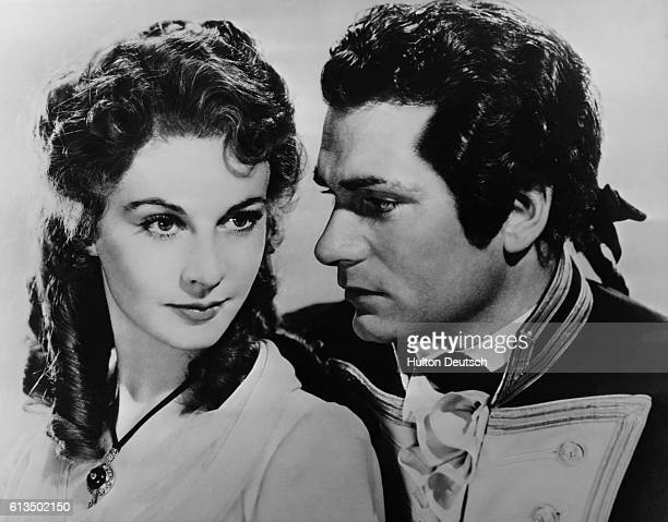 Actress Viven Leigh and actor Laurence Olivier in the film That Hamilton Woman 1941