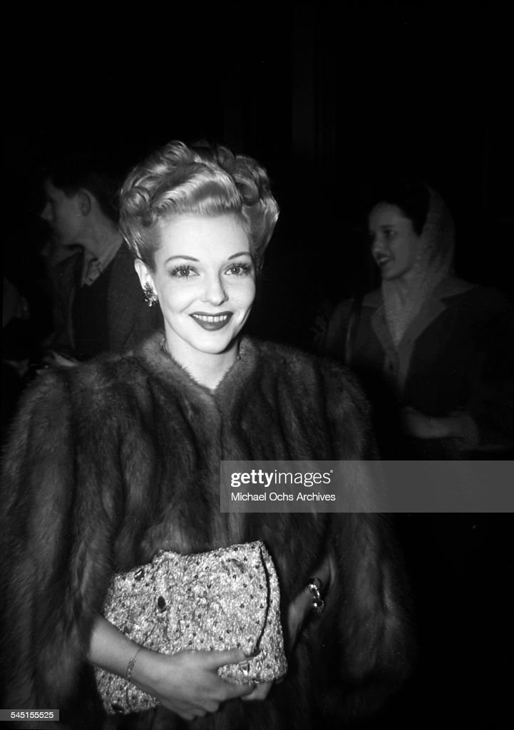 Actress Vivian Blaine poses as she attends an event in Los Angeles, California.
