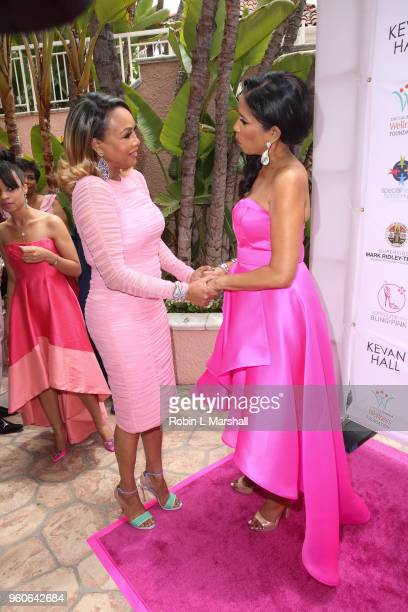 Actress Vivica A Fox and Areva Martin attend the 10th Annual Pink Pump Affair Charity Gala Fundraiser at The Beverly Hills Hotel on May 20 2018 in...