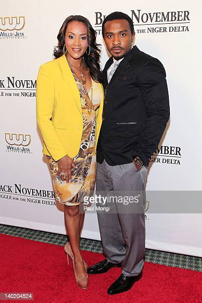Actress Vivica A Fox and Enyinna Nwigwe attend the 'Black November' film screening at The Library of Congress on February 29 2012 in Washington DC