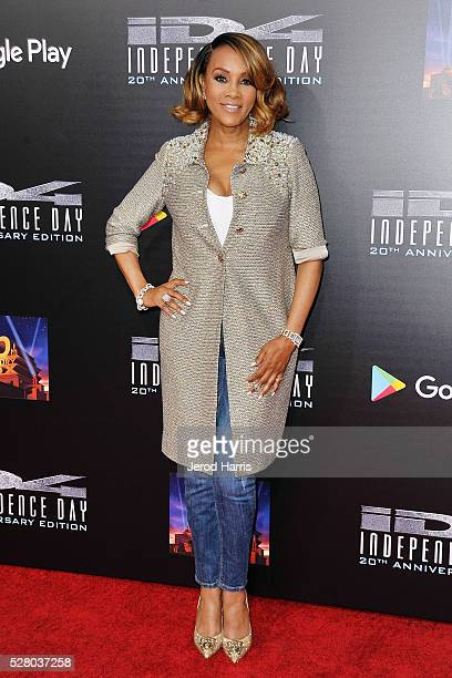 Actress Vivica A Fox arrives at 20th Century Fox Home Entertainment Celebrates 20th Anniversary Edition of 'Independence Day' at Zanuck Theater at...
