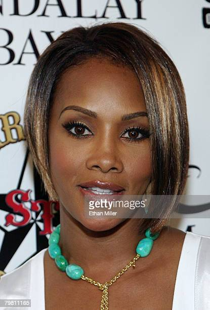 Actress Vivica A Fox arrives at the grand opening of Mario Barth's Starlight Tattoo at the House of Blues inside the Mandalay Bay Resort Casino...