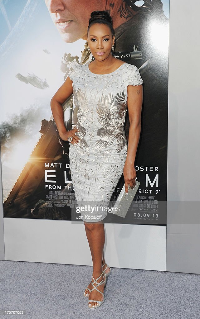 Actress Vivica A. Fox arrives at the Los Angeles Premiere 'Elysium' at Regency Village Theatre on August 7, 2013 in Westwood, California.