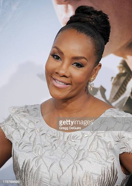 "Actress Vivica A. Fox arrives at the Los Angeles premiere of ""Elysium"" at Regency Village Theatre on August 7, 2013 in Westwood, California."