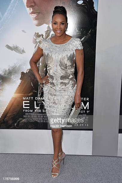 Actress Vivica A Fox arrives at the premiere of TriStar Pictures' Elysium at Regency Village Theatre on August 7 2013 in Westwood California