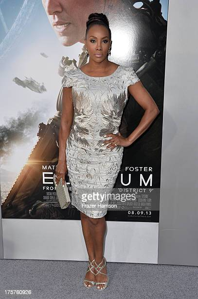 Actress Vivica A Fox arrives at the premiere of TriStar Pictures' 'Elysium' at Regency Village Theatre on August 7 2013 in Westwood California