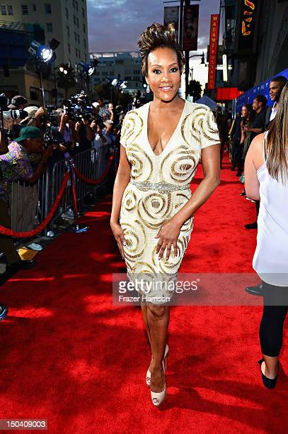 Actress Vivica A Fox arrives at TriStar Pictures' Sparkle premiere at Grauman's Chinese Theatre on August 16 2012 in Hollywood California