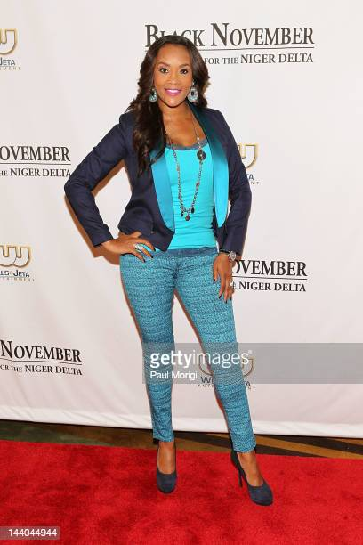 Actress Vivica A Fox attends Black November screening at John F Kennedy Center for the Performing Arts on May 8 2012 in Washington DC