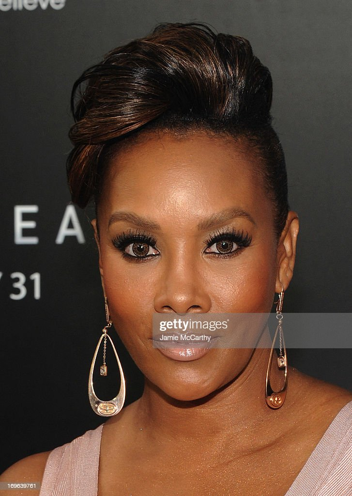 Actress Vivica A. Fox attends Columbia Pictures and Mercedes-Benz Present the US Red Carpet Premiere of AFTER EARTH at Ziegfeld Theatre on May 29, 2013 in New York City.