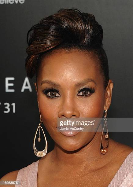 Actress Vivica A Fox attends Columbia Pictures and MercedesBenz Present the US Red Carpet Premiere of AFTER EARTH at Ziegfeld Theatre on May 29 2013...