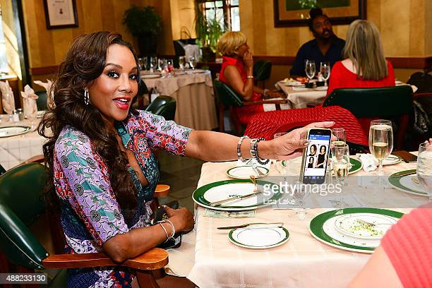 Actress Vivica A Fox attends Ladies Champagne Caviar Luncheon hosted by Dorys Erving at Aronimink Golf Club on September 14 2015 in Newtown...