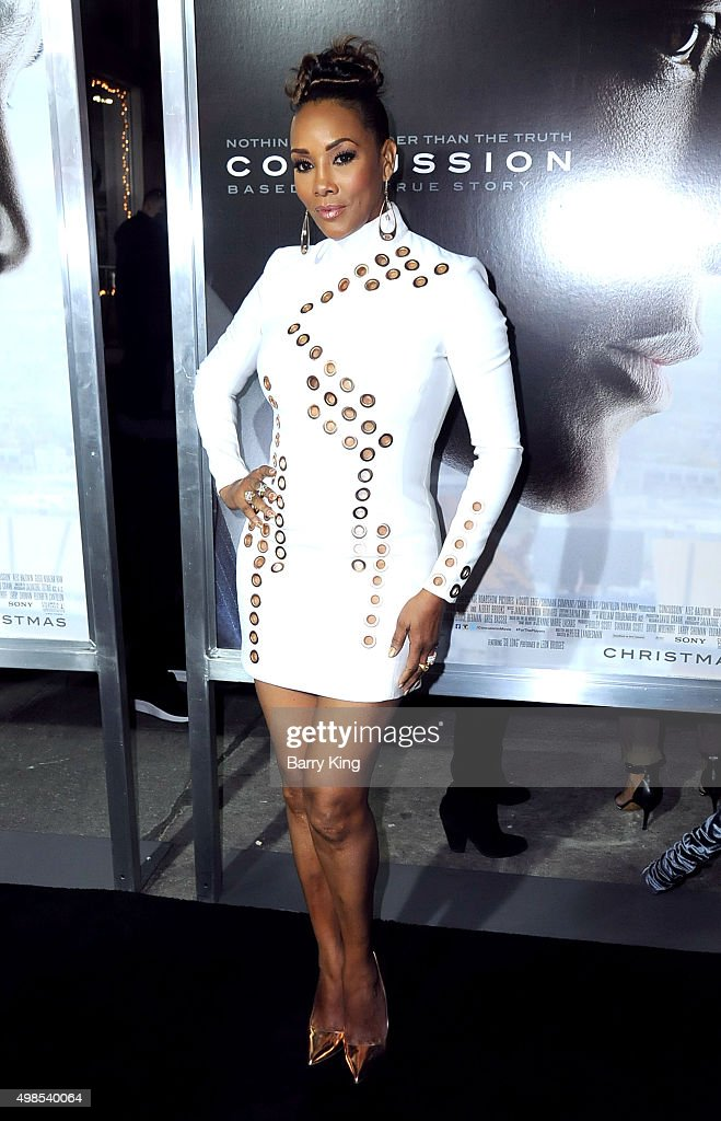 Actress Vivica A. Fox attends screening of Columbia Pictures' 'Concussion' at the Regency Village Theatre on November 23, 2015 in Westwood, California.