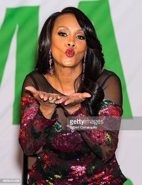 Actress Vivica A Fox attends Styled To Slay Smart Weft Launch Party Hair Seminar at Crystal Tea Room on March 8 2015 in Philadelphia Pennsylvania