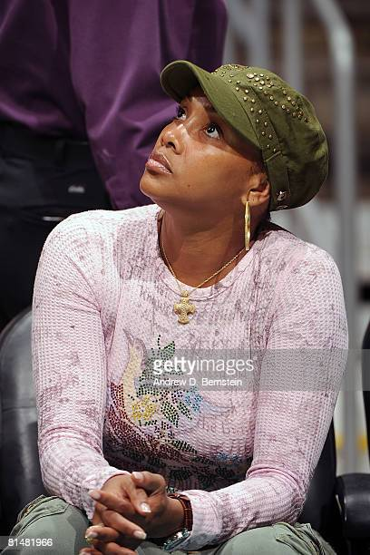 Actress Vivica A Fox attends the game between the Phoenix Mercury and the Los Angeles Sparks on June 6 2008 at Staples Center in Los Angeles...