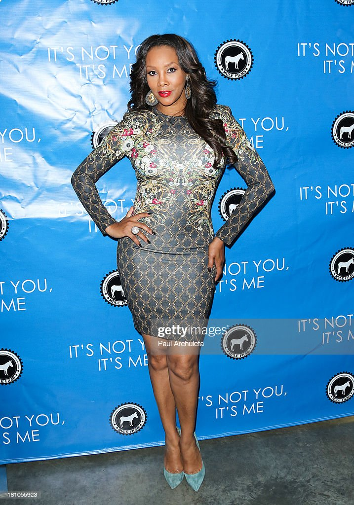 Actress Vivica A. Fox attends the Los Angeles premiere 'It's Not You, It's Me' at the Downtown Independent Theatre on September 18, 2013 in Los Angeles, California.