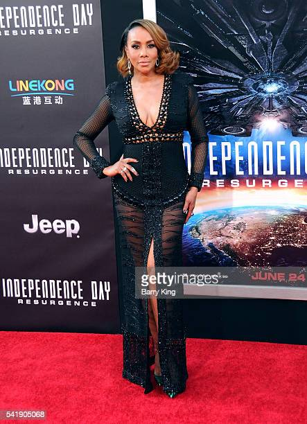 Actress Vivica A Fox attends the premiere of 20th Century Fox's' 'Independence Day Resurgence' at TCL Chinese Theatre on June 20 2016 in Hollywood...