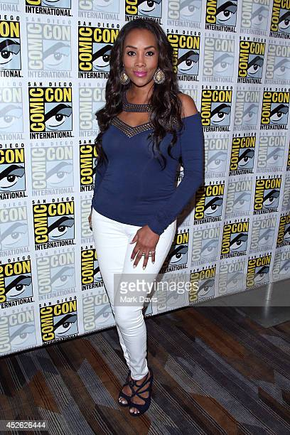 Actress Vivica A Fox attends the Sharknado The Second One press line during ComicCon International 2014 at Hilton Bayfront on July 24 2014 in San...