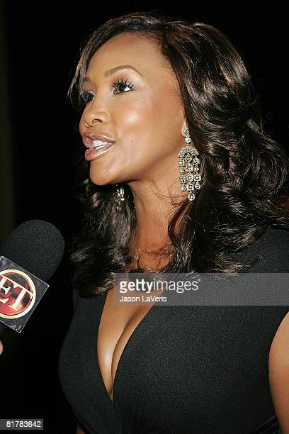 Actress Vivica A Fox interviewed at the 18th Annual NAACP Theater Awards at the Kodak Theater on June 30 2008 in Hollywood California