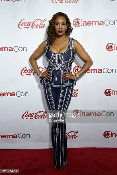 Actress Vivica A Fox one of the recipients of the Ensemble of the Universe Award for 'Independence Day Resurgence' attends the CinemaCon Big Screen...