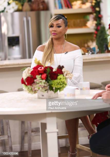 Actress Vivica A Fox visits Hallmark's Home Family celebrating 'Christmas In July' at Universal Studios Hollywood on July 16 2018 in Universal City...