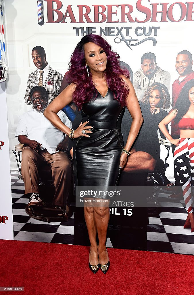 Actress Vivica Fox attends the Premiere Of New Line Cinema's 'Barbershop: The Next Cut' at TCL Chinese Theatre on April 6, 2016 in Hollywood, California.