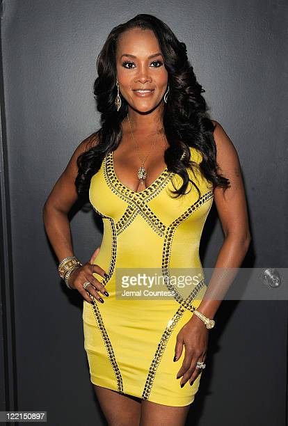 Actress Vivica Fox poses for a photo during BJ Coleman's 31st birthday party at The Polar Lounge on August 25 2011 in New York City