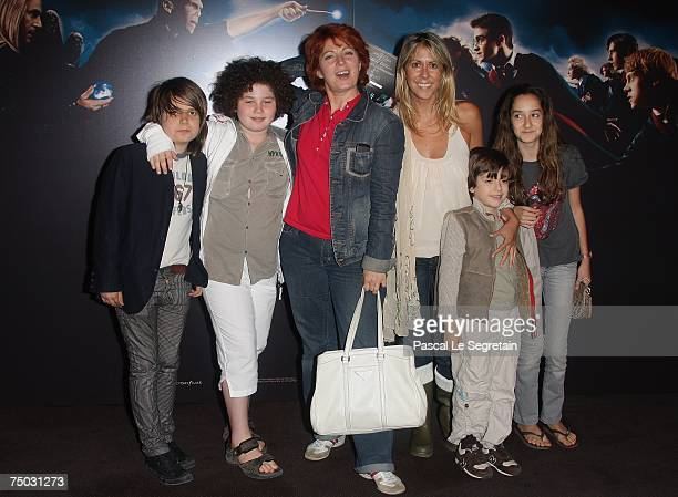 Actress Vronique Genest and TV Presenter Rachel Bourlier and their children attend the Premiere for the David Yates's film Harry Potter and the order...