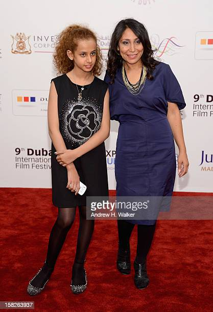 Actress Waad Mohammed and director Haifaa Al Mansour attend the 'Wadjda' premiere during day four of the 9th Annual Dubai International Film Festival...