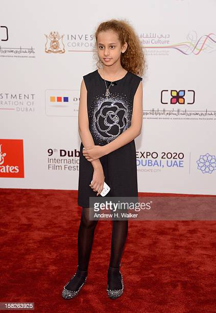 Actress Waad Mohammed attend the 'Wadjda' premiere during day four of the 9th Annual Dubai International Film Festival held at the Madinat Jumeriah...