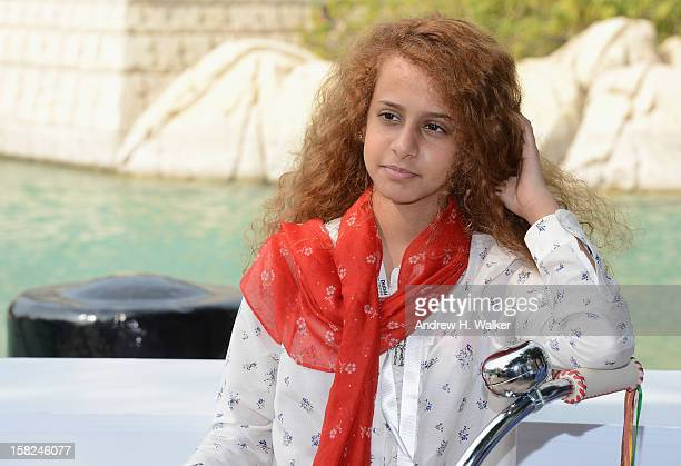 Actress Waad Mohammed attends the Wadjda photocall during day four of the 9th Annual Dubai International Film Festival held at the Madinat Jumeriah...