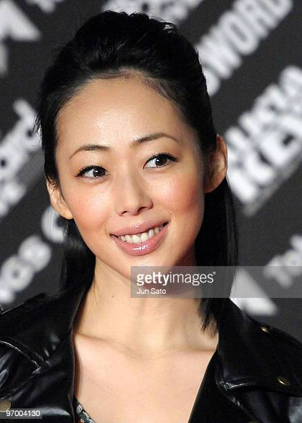 Actress Waka Inoue attends the photocall during Alicia Keys's latest album promotion 'The Element Of Freedom' at Tokyo MidTown on January 14 2010 in...