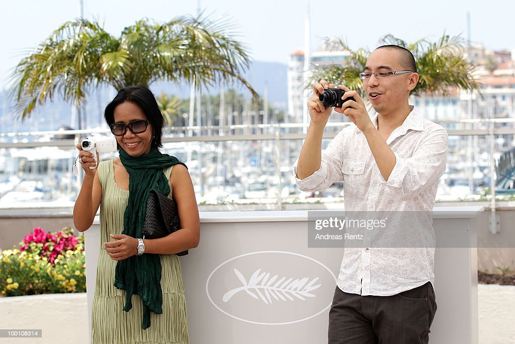 Actress Wallapa Mongkolprasert and Director Apichatpong Weerasethakul attend the 'Uncle Boonmee Who Can Recall His Past Lives' Photocall at the Palais des Festivals during the 63rd Annual Cannes Film Festival on May 21, 2010 in Cannes, France.