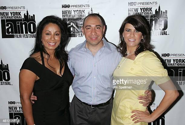 Actress Wanda De Jesus Founder of the New York International Latino Film Festival Galixto Chinchilla and Executive Director of the New York...