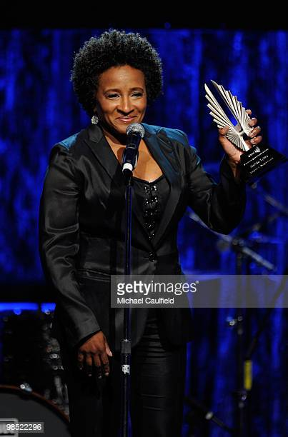 Actress Wanda Sykes accepts the Stephen F Kolpzak Award onstage at the 21st Annual GLAAD Media Awards held at Hyatt Regency Century Plaza Hotel on...