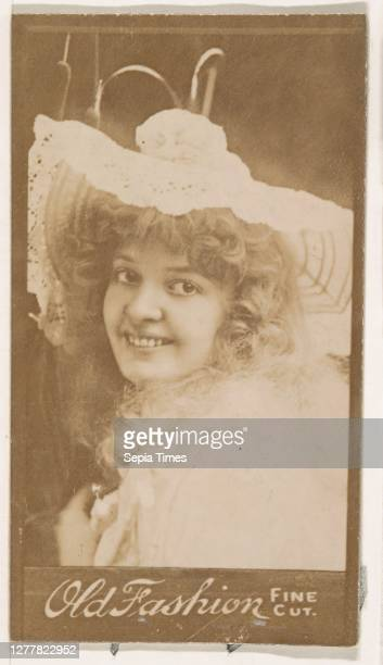 Actress wearing wide-brimmed hat, from the Actresses series promoting Old Fashion Fine Cut Tobacco, 1888–90, Albumen photograph, Sheet: 3 3/8 in. × 2...