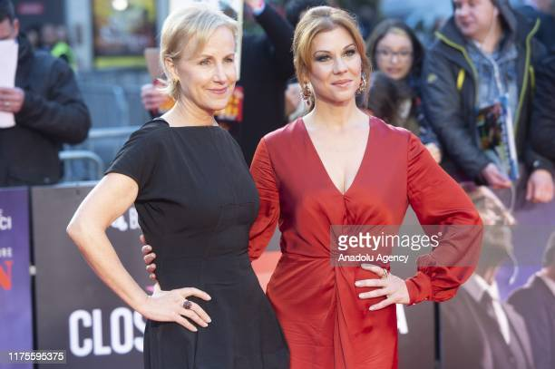 Actress Welker White and actress Stephanie Kurtzuba attend the European film premiere of The Irishman in London United Kingdom on October 13 2019