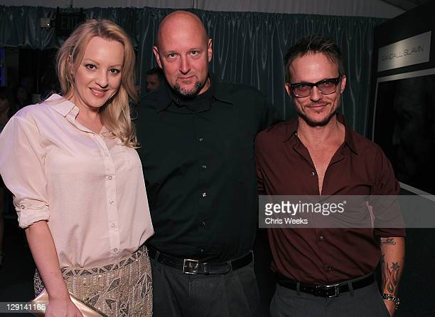 """Actress Wendi Mclendon-Covey and photographer Randall Slavin attends Charlize Theron Africa Outreach Projects premiere of Randall Slavin's """"Reach: 24..."""