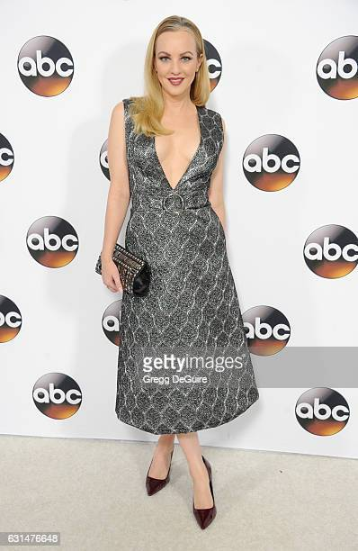 Actress Wendi McLendonCovey arrives at the 2017 Winter TCA Tour Disney/ABC at the Langham Hotel on January 10 2017 in Pasadena California