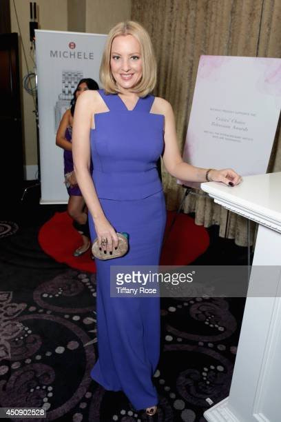 Actress Wendi McLendon-Covey with MICHELE Watches at 4th Annual Critics' Choice Television Awards at The Beverly Hilton Hotel on June 19, 2014 in...