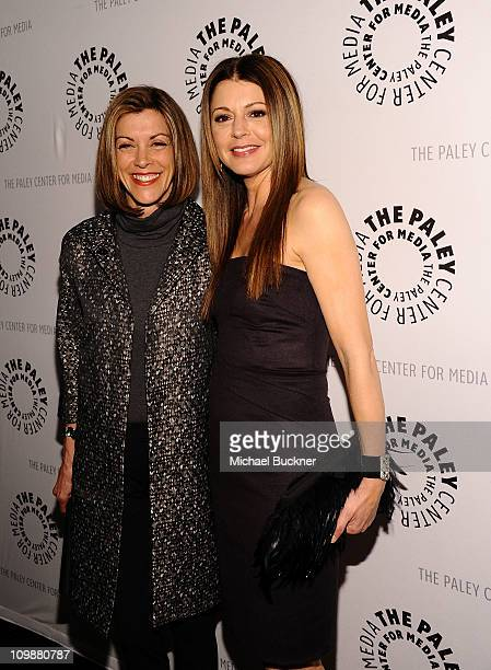 """Actress Wendie Malick and actress Jane Leeves attend the Paley Center For Media's Paleyfest 2011 Event Honoring """"Hot In Cleveland"""" at the Saban..."""