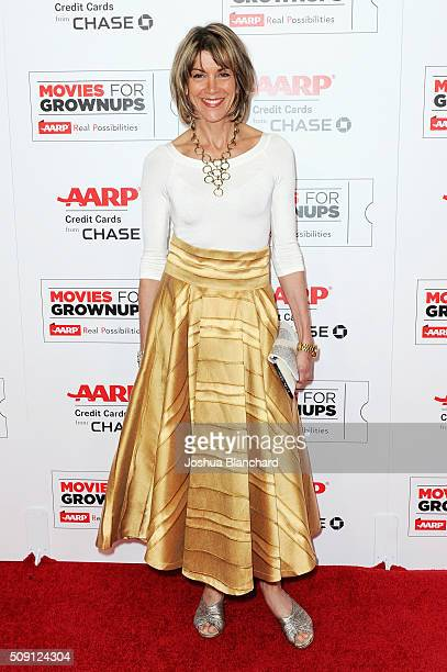 Actress Wendie Malick attends AARP's Movie For GrownUps Awards at the Beverly Wilshire Four Seasons Hotel on February 8 2016 in Beverly Hills...