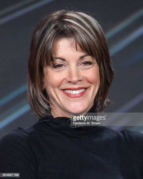 Actress Wendie Malick speaks onstage during the 'Rush Hour' panel discussion at the CBS/ShowtimeTelevision Group portion of the 2015 Winter TCA Tour...