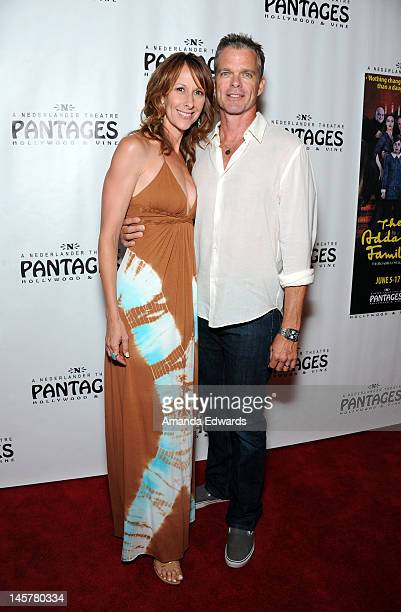 Actress Wendy Braun and actor Josh Coxx arrive at the Opening Night Of 'The Addams Family' at The Pantages Theatre on June 5 2012 in Hollywood...