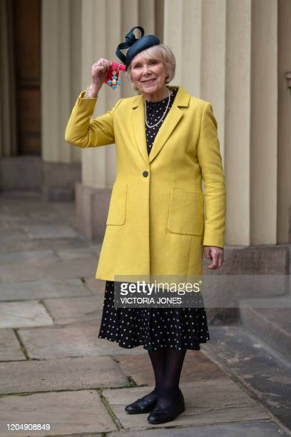 Actress Wendy Craig poses with her medal after being appointed a Commander of the Order of the British Empire for services to drama and charity...